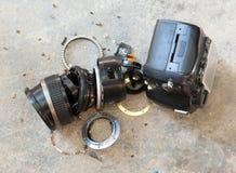 Kamera obiektyw łamający Zdjęcie Stock