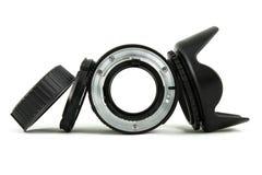 Kamera obiektyw, obiektyw nakrętka i kapiszon, Zdjęcia Royalty Free