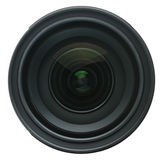 Kamera obiektyw odizolowywający na bielu Zdjęcia Royalty Free