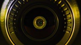 Kamera obiektyw z barwionym światłem, zamknięte fotografie, Zdjęcie Stock