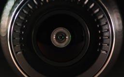 Kamera obiektyw z barwionym światłem, zamknięte fotografie Zdjęcia Royalty Free