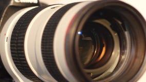 Kamera obiektyw z lense świeceniem - zwroty zdjęcie wideo
