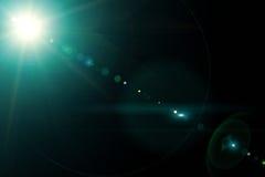 Kamera obiektyw z lense odbiciami Obraz Royalty Free