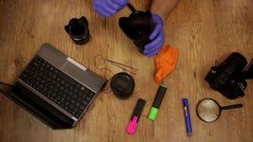 Kamera obiektywu cleaning zbiory wideo