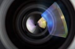 Kamera obiektywu tło Obrazy Royalty Free