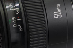 Kamera obiektywu zakończenie Fotografia Stock