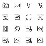 Kamera- och fotografisymboler Arkivbild