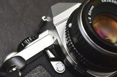 kamera odizolowywająca nad rangefinder rocznika biel Fotografia Stock