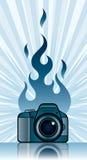 kamera ogień ilustracji