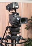 Kamera på filmuppsättningen Fotografering för Bildbyråer
