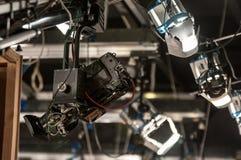 Kamera på kranen Arkivfoton