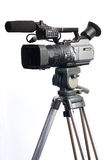 Kamera på tripoden Fotografering för Bildbyråer