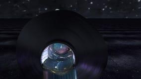 Kamera ruch iść out od nafcianej farby tubki wtedy opuszcza wszechświat royalty ilustracja