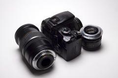 Kamera som är digital vid kanonen Royaltyfria Bilder