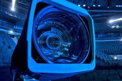 kamera som fäster professionellvideoen för digital bana ihop Royaltyfri Bild