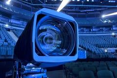 kamera som fäster professionellvideoen för digital bana ihop Royaltyfria Foton