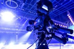 kamera som fäster professionellvideoen för digital bana ihop Royaltyfri Fotografi