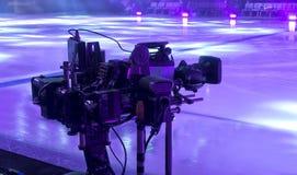 kamera som fäster professionellvideoen för digital bana ihop Royaltyfri Foto