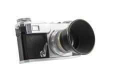 kamera som isoleras över fotografisk white Arkivbild