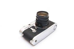 kamera som isoleras över rangefindertappningwhite Royaltyfri Bild