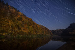 kamera spowodować globu przepływu narażenia rotacji jest gwiazda długo ciągnie Zdjęcie Stock