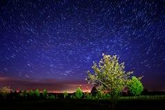 kamera spowodować globu przepływu narażenia rotacji jest gwiazda długo ciągnie Zdjęcia Royalty Free