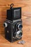 kamera stara SLR 6 6 cm zdjęcie stock