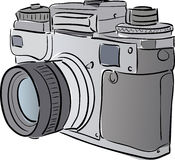 kamera stylizująca Zdjęcie Royalty Free