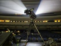 Kamera telewizyjna w koncercie hal kamery cyfrowej profesjonalistów śliwek ścieżki wideo fotografia royalty free