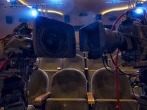 Kamera telewizyjna w koncercie hal kamery cyfrowej profesjonalistów śliwek ścieżki wideo zdjęcie stock