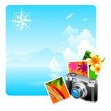 Kamera- und Reisenabbildungen Lizenzfreie Stockbilder