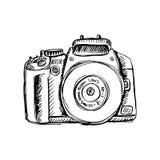Kamera w szkicowym stylu royalty ilustracja