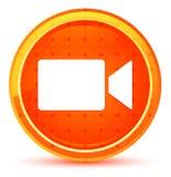 Kamera wideo ikony round naturalny pomarańczowy guzik ilustracja wektor