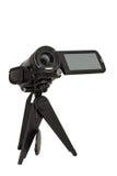 Kamera wideo na małym tripod obraz stock