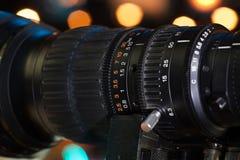 Kamera wideo obiektyw zdjęcia stock