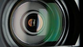 Kamera wideo obiektyw, dynamiczna zmiana ostrość, zakończenie zbiory
