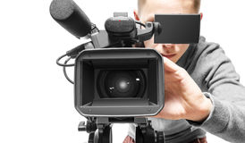 Kamera wideo operator Zdjęcia Stock