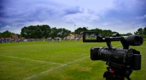 kamera wideo zawodowego Zdjęcie Stock