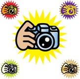 Kamera-Zeichen Stockfotografie