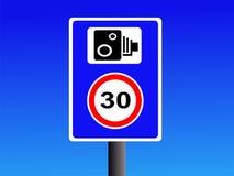 kamera znaku prędkości Obraz Stock