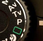 Kamerabetriebsartvorwahlknopf Stockfotos