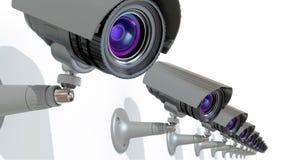 kamerabevakning stock illustrationer