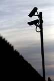 kamerabevakning två Arkivbilder