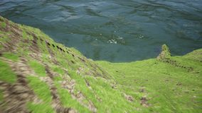 Kamerabewegung in den fantastischen Bergen stock footage