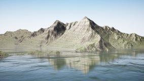 Kamerabewegung in den fantastischen Bergen vektor abbildung