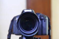 Kameradrömmen är det en fotografs berättelse Arkivfoto