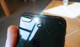 Kameraexponeringen ledde prålig ny iPhone 8 och iPhone 8 Plus i Apple S Royaltyfri Fotografi