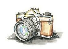 kamerafilm stock illustrationer