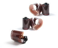 kamerafilmrullar Arkivbild