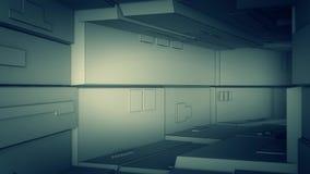 Kameraflug durch einen technologischen Tunnel, Schleife vektor abbildung